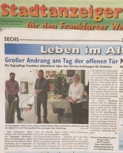 """Die Senioren Tagespflege Frankfurt feiert am 14.09.2017 den """"Tag der offenen Tür""""."""